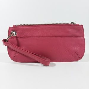 Old Navy pink leather wristlet